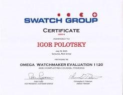 OWME 1120 Certificate, Igor Polotsky